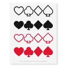 spades temporary tattoos zazzle
