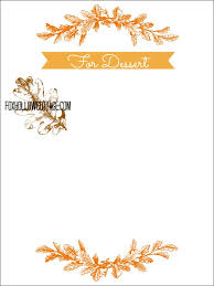 thanksgiving free printable series dessert menu board fox