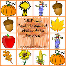 free fall themed printable alphabet worksheets for preschool