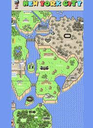 a map nyc a mario map of york city by eisemann follow the