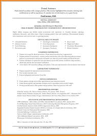 Example Resume For Dental Assistant by Resume Orthodontist Assistant Virtren Com