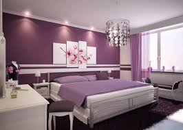 interior creative design in purple theme bedroom for girls using