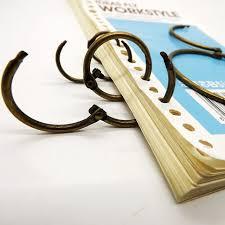 bureau de liaison bonne qualité bronze antique carte postale liant anneau calendrier