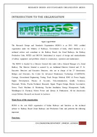 ndt report summer training rdso
