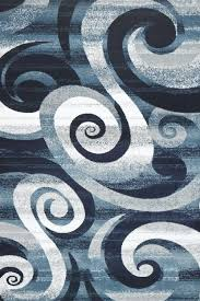 Modern Rugs by Navy Blue Modern Rugs Contemporary Swirls Design Cheap Area