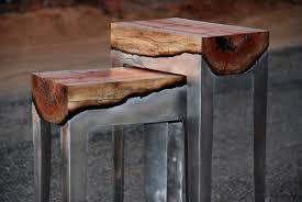 Wooden Furniture Design 2017 Designer Hilla Shamia Fuses Cast Aluminum And Tree Trunks To