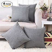 Linen Covers Gray Print Pillows White Walls Grey Home Brilliant Decorative Linen Square Throw Pillow