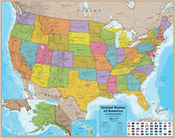 us map middle states wall maps for sale world usa state continent