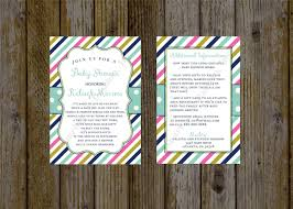 Gift Card Baby Shower Invitations Long Distance Baby Shower Invitations U2013 Gangcraft Net