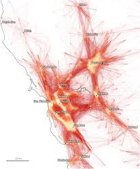 Commute Map Five Maps That Improve Our View Of America U0027s Megaregions