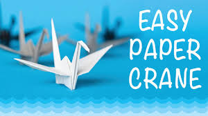 how to make a paper crane origami step by step easy youtube