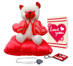Valentine Day Gifts For Wife Buy Tiedribbons Valentine Gifts For Girlfriend Couple Teddy On