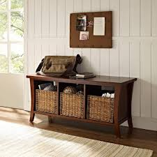 amazon com crosley furniture wallis entryway storage bench