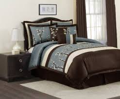 Blue And Brown Bed Sets Blue And Brown King Comforter Sets Size In Comforters Ecfq Info