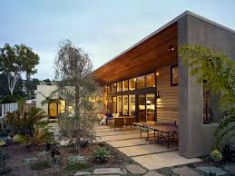 architecture modern exterior with overhang and flat roof also