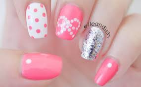 35 beautiful pink polka dots nail art designs
