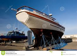 fishing boat dry dock 2 royalty free stock images image 496039