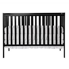 Black Convertible Crib On Me Synergy 5 In 1 Convertible Crib Black
