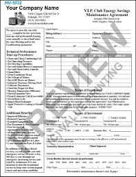 Sample Landscape Maintenance Contract Free Design Fast Shipping On Hvac Forms Hvac Invoices U0026 Work