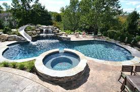 Water Slide Backyard by Backyard Swimming Pool With Slide Hillside Pool Slide Pool