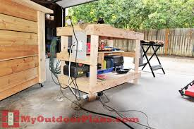 Build Wood Workbench Plans by Diy Wood Workbench Plans Myoutdoorplans Free Woodworking Plans