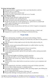 Transferable Skills Resume Sample by My Works Skills List For Jen Career Key