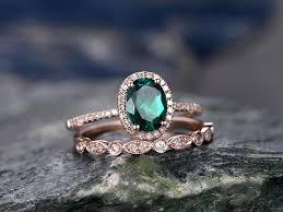 emerald diamonds rings images 1 2 carat oval emerald wedding ring diamond engagement ring rose jpg