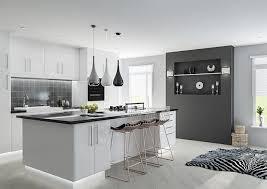 white gloss kitchen doors integrated handle breathtaking modern white gloss kitchen 45 new ideas