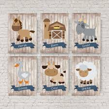 Farm Animal Nursery Decor Farm Animal Nursery Decor Blue And Grey Nursery Sheep Picture
