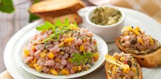 cuisiner mangue tartare de veau à la mangue facile recette sur cuisine actuelle