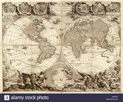 Antique World Map by