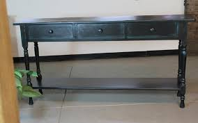 black console table with storage black console table