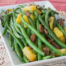 green bean thanksgiving recipes pineapple pecan glazed green beans cupcakes u0026 kale chips