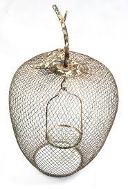 13a278 wholesale vintage handmade apple shaped metal wire mesh tea