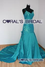 teal wedding dresses jsw45 f teal taffeta mermaid wedding gown coral s bridal