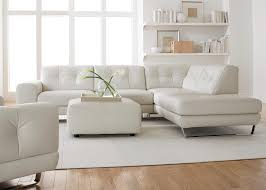 Leather Sectional Sofa Chaise Simple Modern Minimalist Living Room Decoration With White Leather