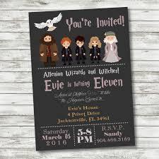 Free Printable Halloween Birthday Invitations Kids by Harry Potter Free Printable Birthday Party Invitations Birthday