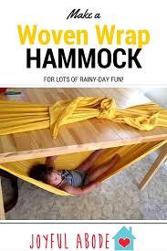 how to make a woven wrap hammock joyful abode