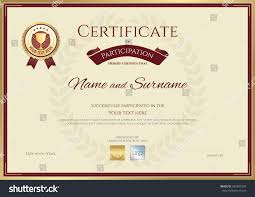 certificate of participation template images