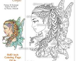 fay goddess fairy tangles printable coloring sheets