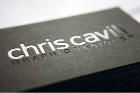 Embossed Business Card Holder Chris Cavill U0027s Business Cards Are Pprinted Onto 540gsm Duplex Gf