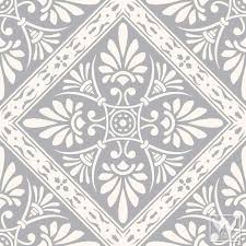 Tile Wallpaper Nouveau Feather Damask Removable Wallpaper Peel And Stick
