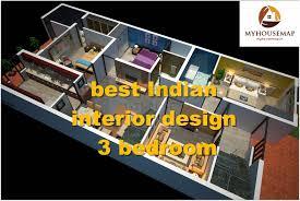 Indian Interior Design Indian Interior Design 3 Bedroom 3d House Floor Plan Ideas