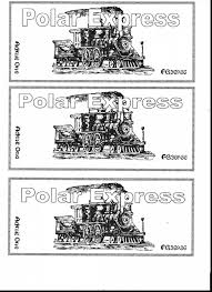 stunning polar express train ticket with polar express coloring
