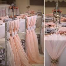 blush chair sashes wedding chair sashes flowy chiffon chiavari chair sashes