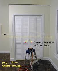 Folding Closet Door by Home Design How To Install Bifold Closet Doors Tray Ceiling