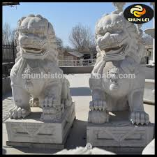 fu dog statues for sale carved large white marble foo dog statues buy