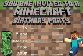 minecraft birthday invitations 29 images of minecraft party invitations template infovia net