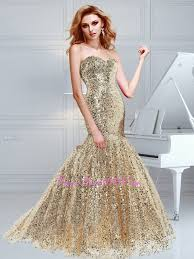 awesome prom dresses mermaid sequins sweetheart prom dress in chagne