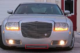 chrysler phantom 2005 chrysler 300 2pc phantom bumper accent billet grille kit